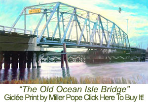 Old Ocean Isle Beach Bridge Print