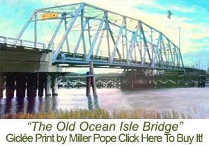 Old Ocean Isle Beach Bridge Print