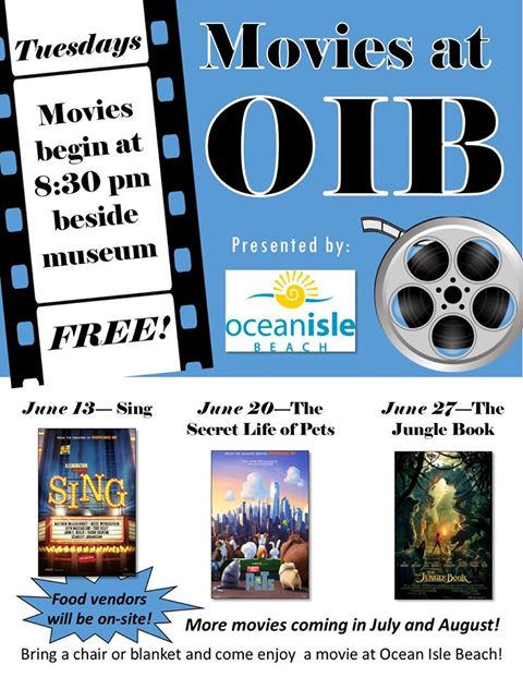 Outdoor Movie Nights at Ocean Isle Beach