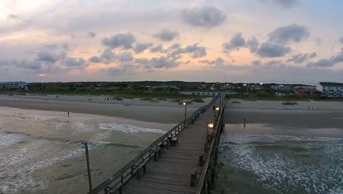 Ocean Isle Beach View from Sky Drone