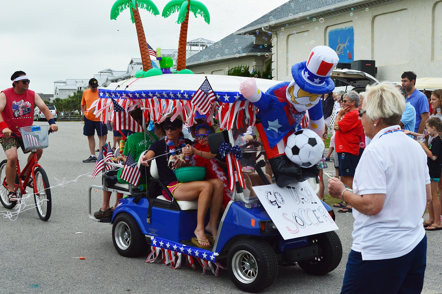 4th of July Parade at Ocean Isle! - Ocean Isle Beach - North ... Patriatic Golf Cart Parade Floats on