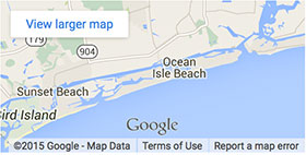 Map Of Ocean Isle Beach Nc