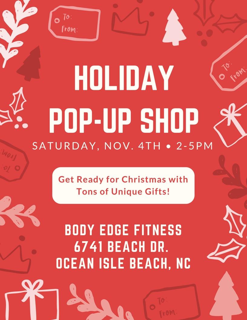 Holiday Pop Up Shop Ocean Isle Beach North Carolina Oceanislebeach Com