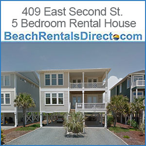 409 East Second St. 5 Bedroom Ocean Isle Rental House Ocean Isle Beach NC