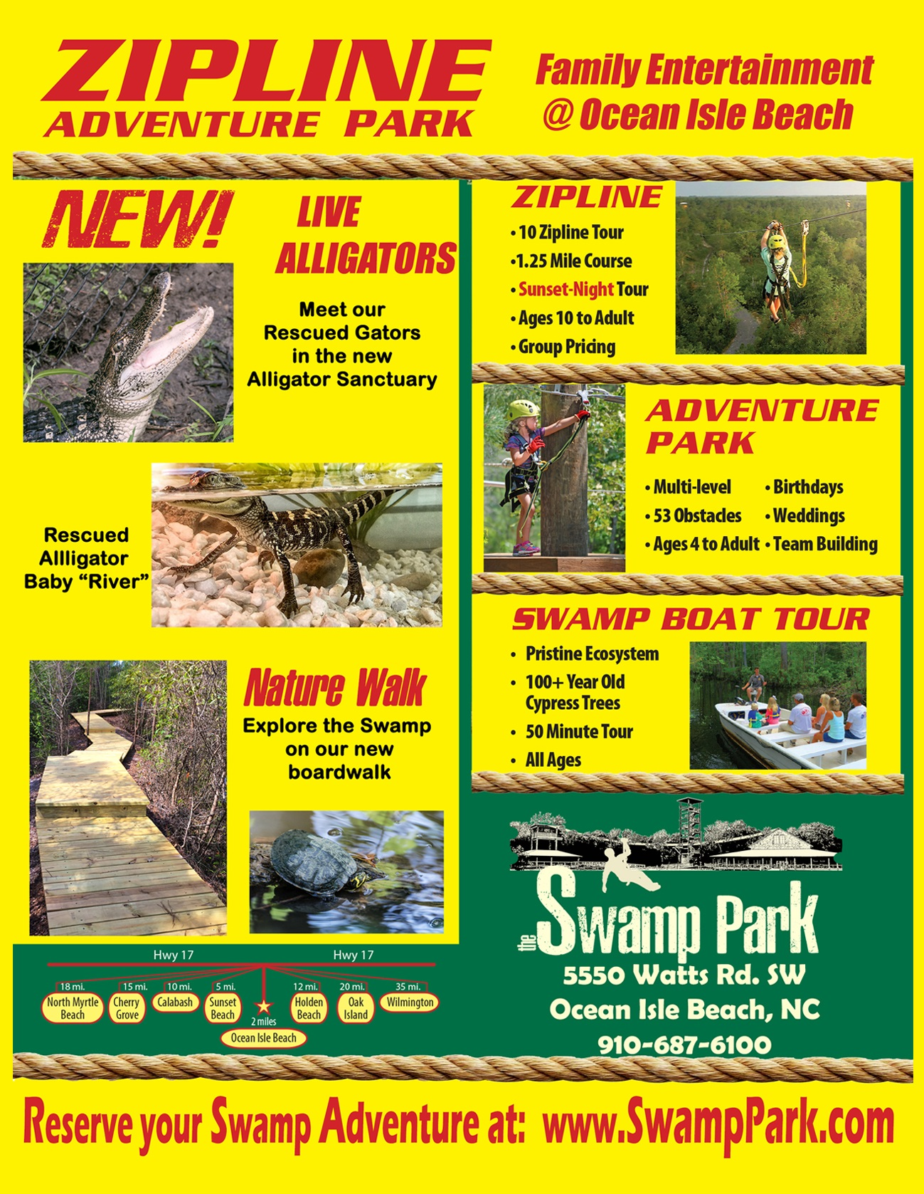 The Swamp Park Adventure Park Ocean Isle Beach NC
