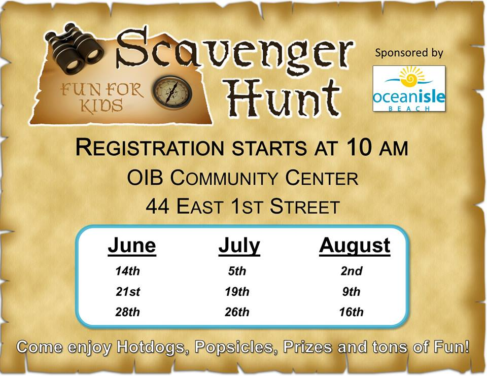 Ocean Isle Beach Scavenger Hunts